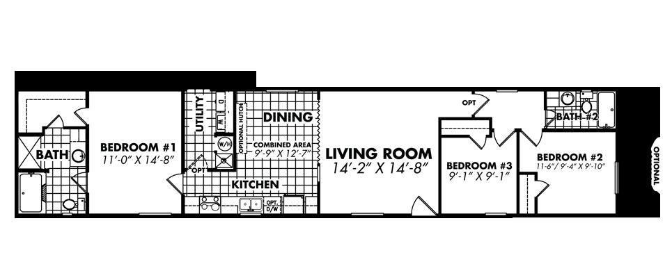 Legacy Housing Single Wide