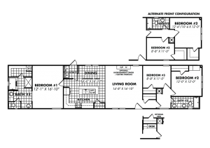 0049-1880-32A 18x80 3 bedroom 2 bath  single wide mobile home