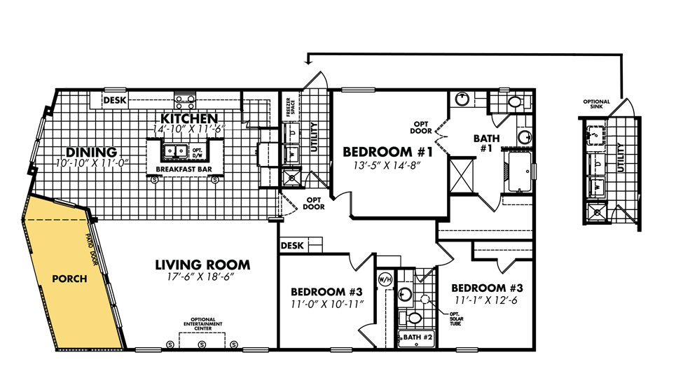 Legacy housing double wides floor plans - Manufactured homes designs ...