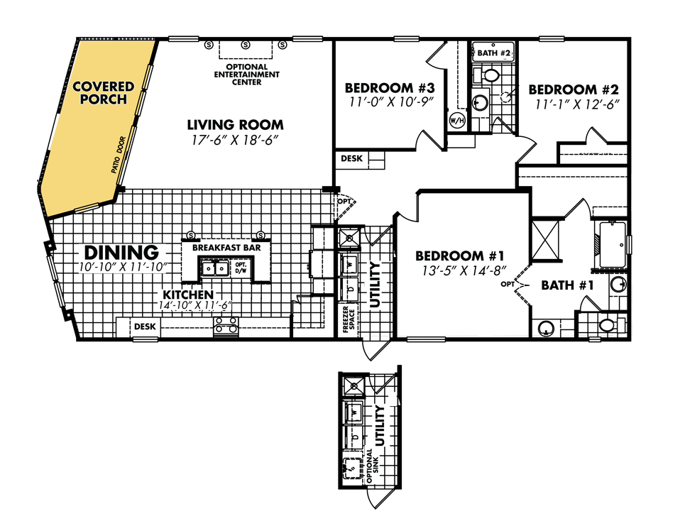 Legacy housing double wides floor plans for Mobile home designs floor plans