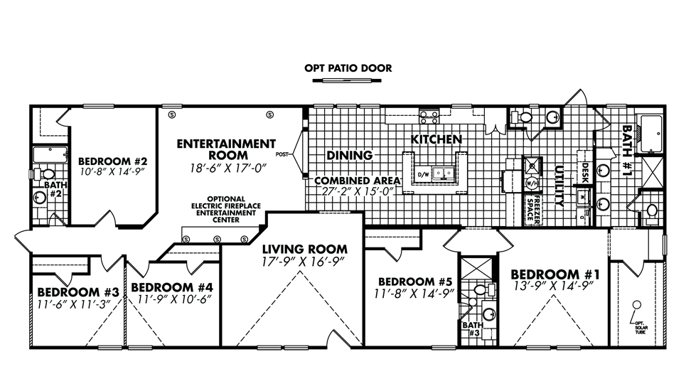 Legacy housing double wides floor plans for 5 bedroom mobile home floor plans