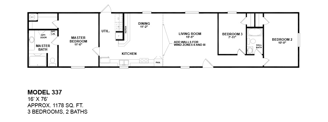 model-337-16x76-3bedroom-2bath-oak-creek-mobile-home Palm Harbor Home Floor Plans Bedroom Bath on 2 bedroom 2 bath home floor plans, 4 bedroom with office floor plans, 4 bedroom 2 bath modular home, 3 bedroom 2 bath home floor plans, 4 bedroom den floor plans,