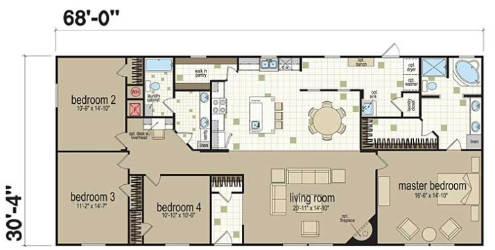 bedroom double wide mobile home floor plans 4 bedroom 2 bath double