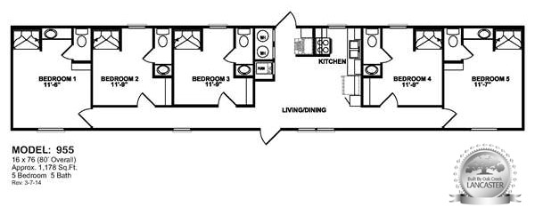 Oilfield Trailer Houses unit floor plans prices on mancamps – 5 Bedroom 3 Bath Mobile Home Floor Plans
