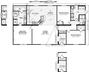 double wide champion home floor plan & photos