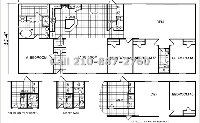 Discount Manufactured Homes 32x76 4 Bedroom