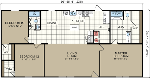 3 bedroom open floor plans 2