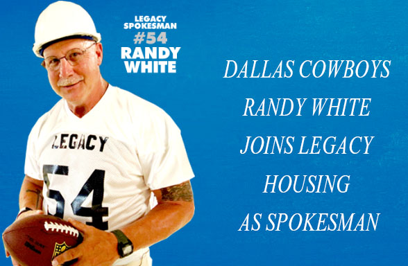 Randy White Joins Legacy Housing as Spokesman
