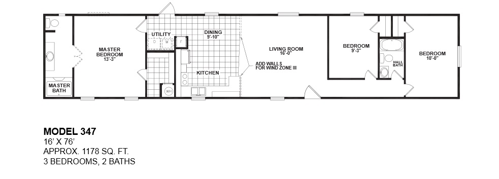 3 Bed 2 Bath Mobile Home Floor Plans