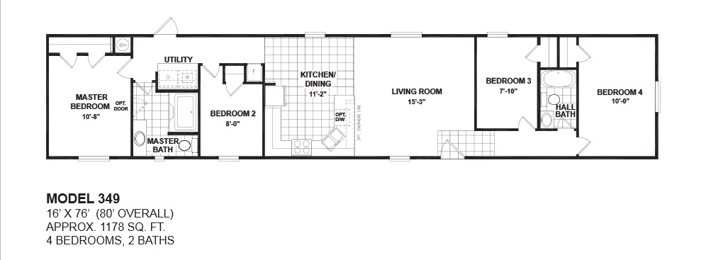 Oak creek floor plans for manufactured homes san antonio for 4 bedroom mobile home floor plans