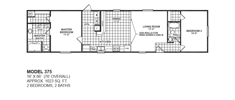1 bedroom single wide mobile home floor plans for 1 bed 1 bath mobile homes