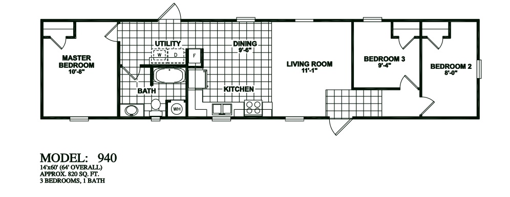 Oak creek floor plans for manufactured homes san antonio for 1 bed 1 bath mobile homes