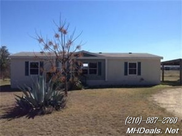3 bed 2 bath Used Doublewide Home and land- Bertram, Texas