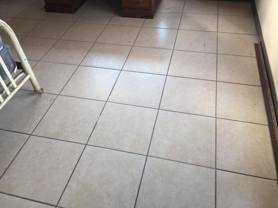 interior tile floors cabin trailer