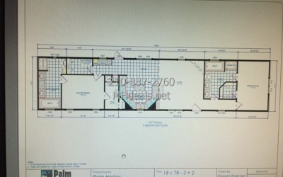 1a 2 bedroom 2 bath single wide 18 wide home 201