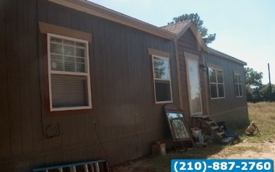 3 bed 2 bath Used Double Wide Mobile Home-Austin, Texas.