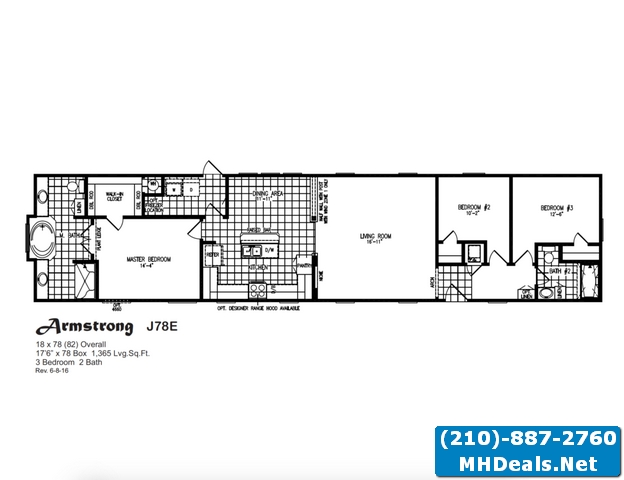 Armstrong meridian 3 bed 2 bath singlewide home for Armstrong homes floor plans