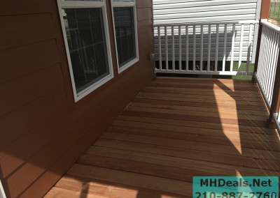 2 bedroom 1 bath cedar sided porch cabin porch