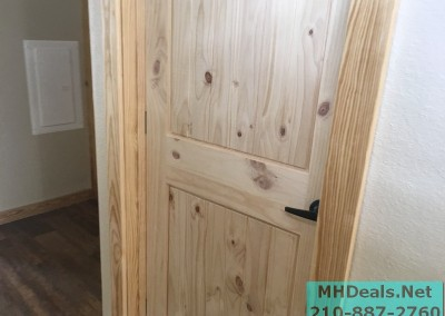 2 bedroom 1 bath cedar sided porch cabin closet door