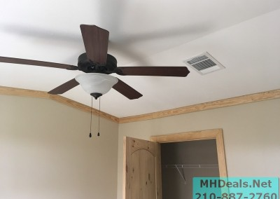 2 bedroom 1 bath cedar sided porch cabin ceiling fan
