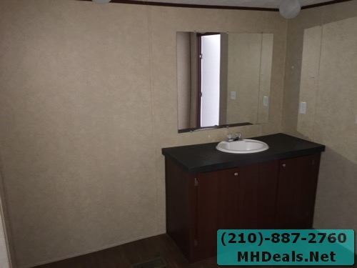 3 bed 2 bath doublewide mobile home Master bathrom