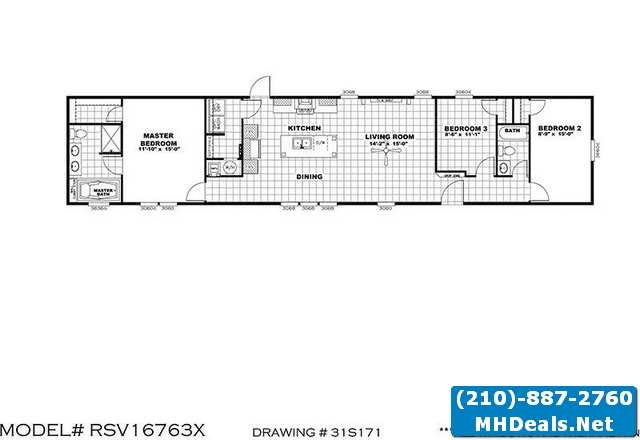 Wind Zone 2 Beautiful Manufactured home floorplan