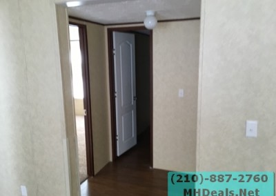 4 bedroom 2 bathroom large used doublewide manufactured home Hallway