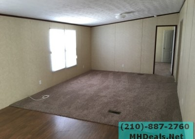 4 bedroom 2 bathroom large used doublewide manufactured home Living room 2