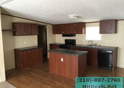 4 bedroom 2 bathroom large used doublewide manufactured home kitchen