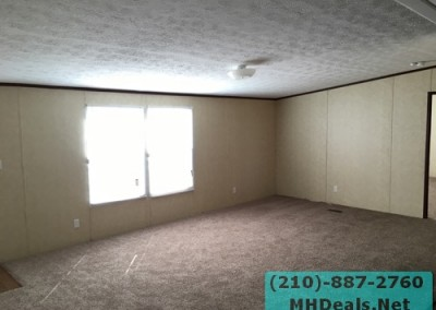 4 bedroom 2 bathroom large used doublewide manufactured home living room