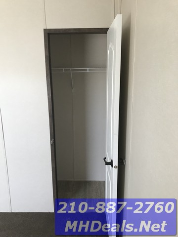 Closet with carpet 3 bed 2 bath new singlewide with storage