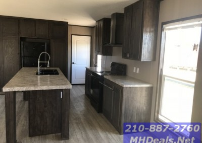 Kitchen 3 bed 2 bath new singlewide with storage