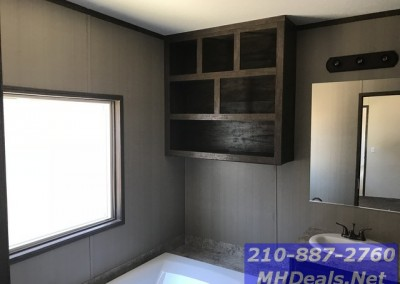 Master bathroom storage 3 bed 2 bath new singlewide with storage