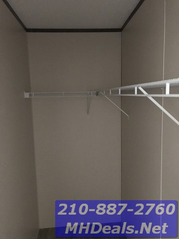 Walk in closet 3 bed 2 bath new singlewide with storage