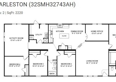 floorplan - Bedroom 4 with Activity Room