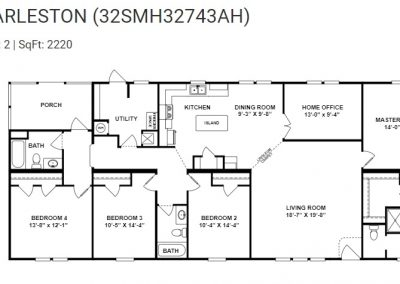 floorplan - Bedroom 4 with Porch