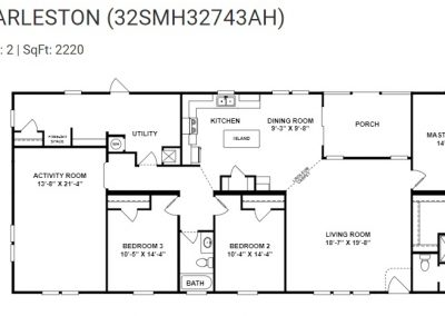 floorplan -Extended Utility with porch option