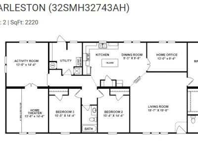 floorplan - Home Theater with Activity Room