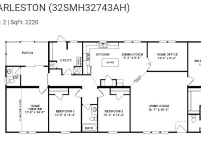 floorplan - Home Theater with Porch