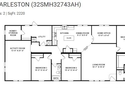 floorplan -Utility with Hobby Room and office option