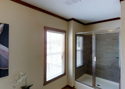 the charleston manufactured home master shower