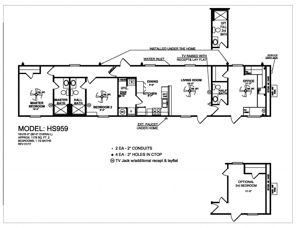Floor Plan for Workforce Housing- Oilfield Housing Units