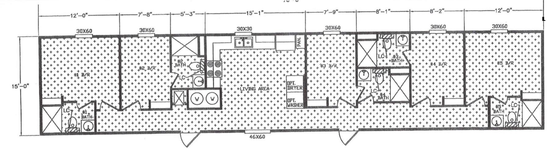 workforce housing floor plan 5 bedroom 5 bath