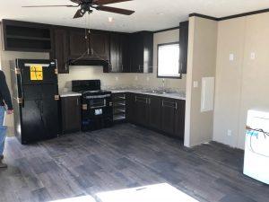 interior view oilfield house kitchen