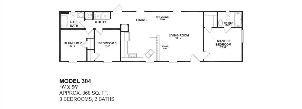 model 304 14 56 3bedroom 2bath oak creek mobile home model 304 14x56 3bedroom 2bath