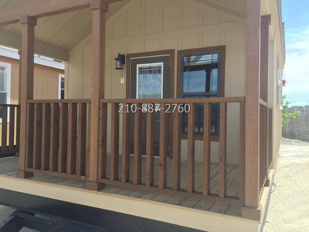 1 bedroom porch model cabin with loft-15