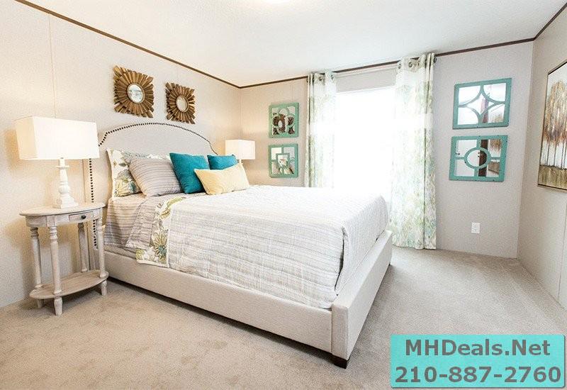 2 bed 2 bath New Singlewide Home Clayton Delight Bedroom