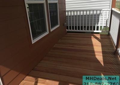 2 bedroom 1 bath cedar sided porch cabin porch