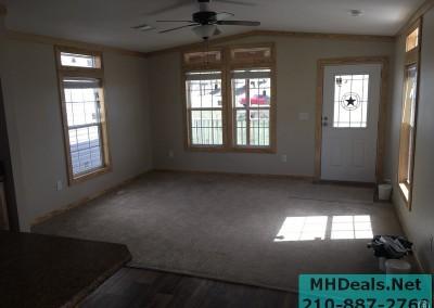 2 bedroom 1 bath cedar sided porch cabin Living room 2