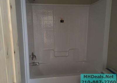2 bedroom 1 bath cedar sided porch cabin bathroom 2